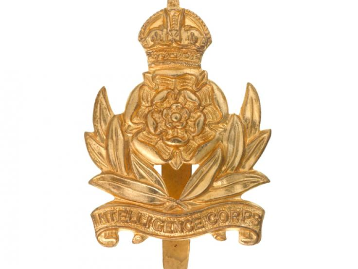 Other ranks' cap badge, Intelligence Corps, c1955