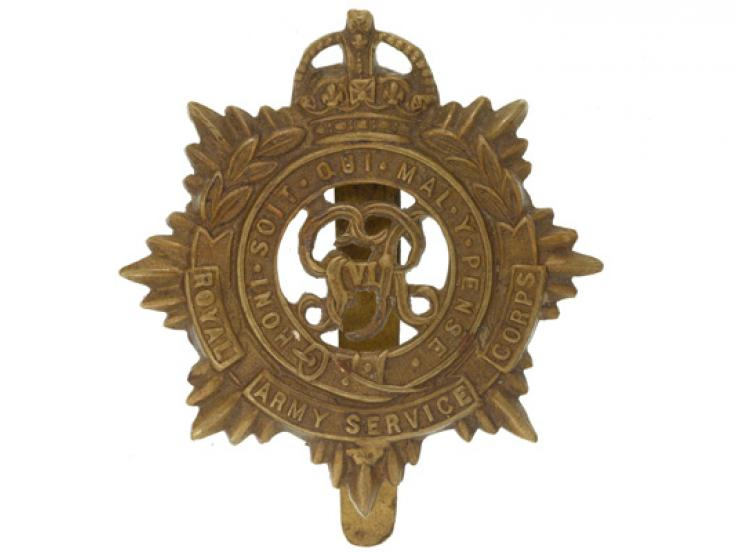 Cap Badge, Royal Army Service Corps, c1940
