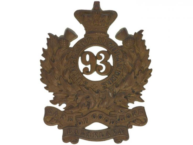 Glengarry badge, 93rd (Sutherland Highlanders), c1876