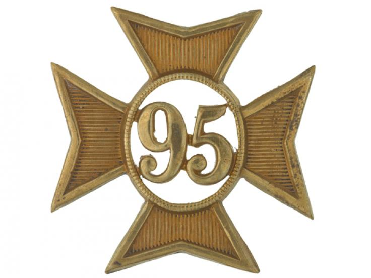 Glengarry badge, 95th (Derbyshire) Regiment of Foot, c1874