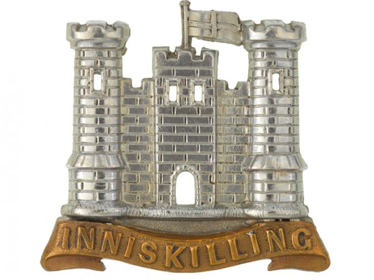 Cap badge, other ranks, 6th (Inniskilling) Dragoons, c1900