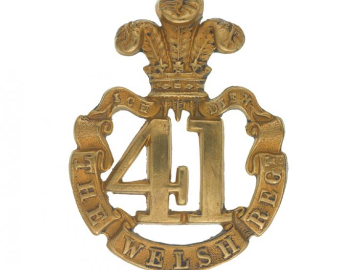 Glengarry badge, 41st (The Welsh) Regiment of Foot, c1874