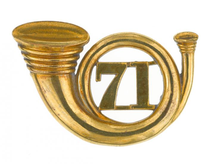 Officers' glengarry badge, 71st (Highland) Regiment, 1874