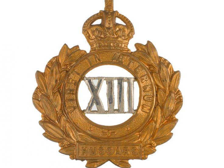 Officer's cap badge, 13th Hussars, c1910