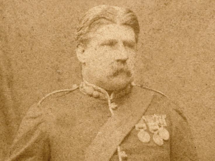 Lieutenant Colonel Campbell Clark, 104th Regiment of Foot (Bengal Fusiliers), c1877