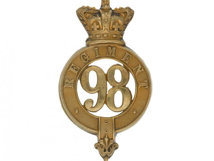 Glengarry badge, 98th (Prince of Wales's) Regiment of Foot, c1874