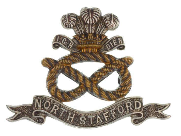 Cap badge, The North Staffordshire Regiment (Prince of Wales's), c1900