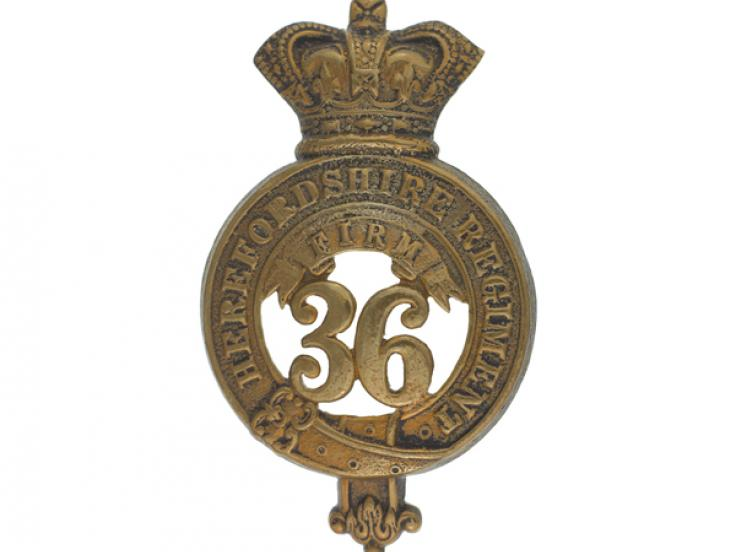 Glengarry badge, 36th (Herefordshire) Regiment, c1874