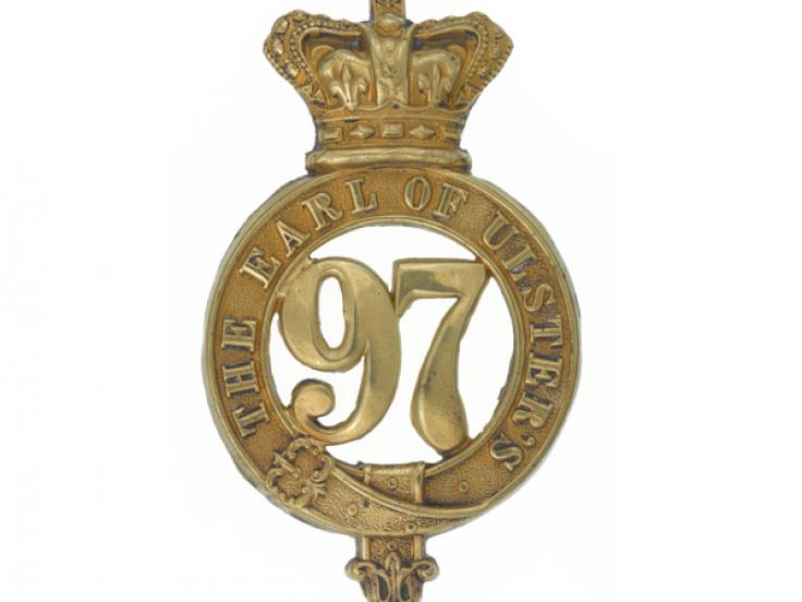 Glengarry badge, 97th (Earl of Ulster's) Regiment of Foot, c1874