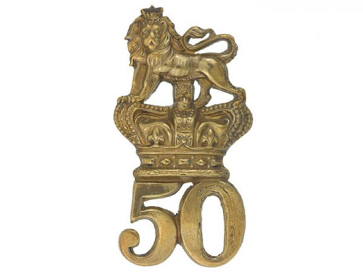 Glengarry badge, 50th (Queen's Own) Regiment of Foot, c1874