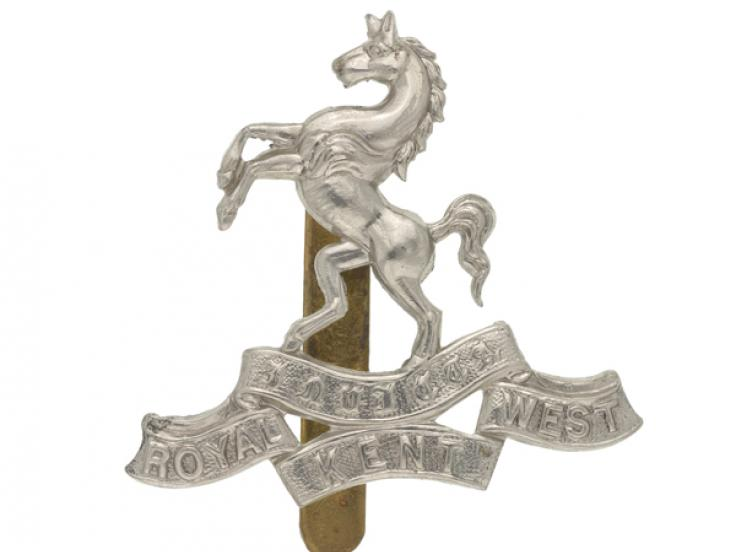 Cap badge, The Queen's Own Royal West Kent Regiment, 1898