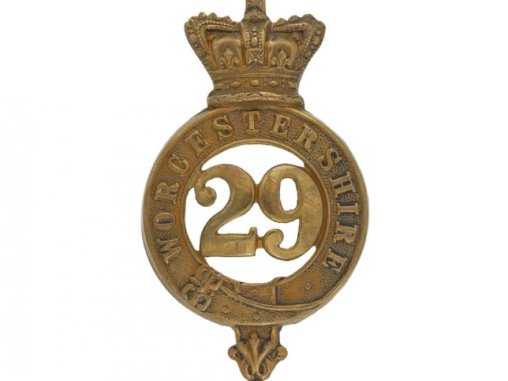 Glengarry badge, 29th (Worcestershire) Regiment of Foot, c1874