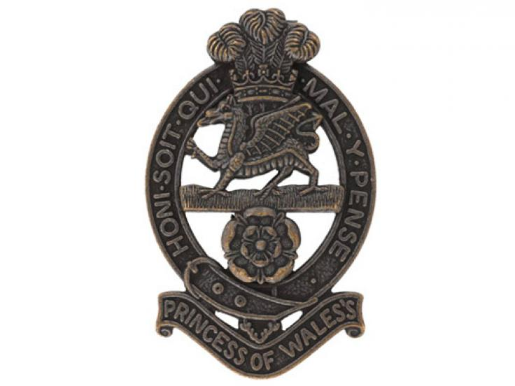 Cap badge, The Princess of Wales's Royal Regiment, c2015