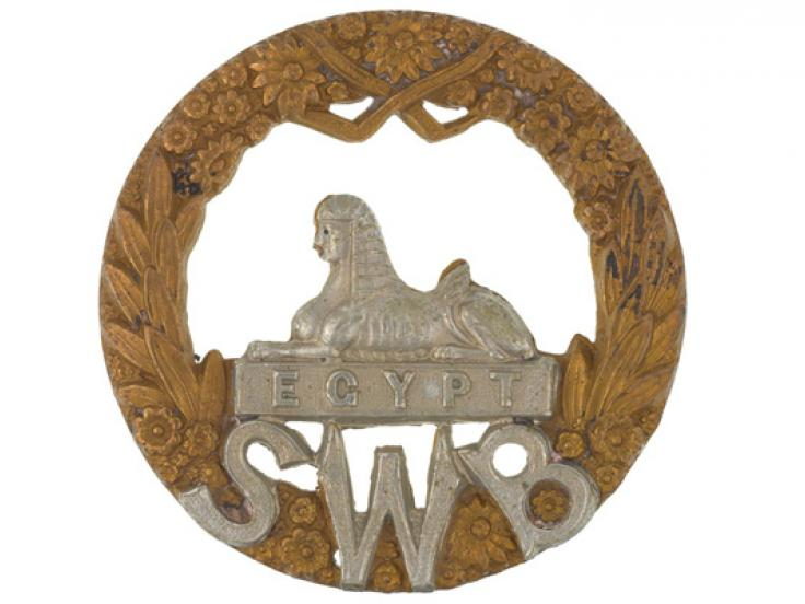 Other ranks' cap badge, The South Wales Borderers, c1900