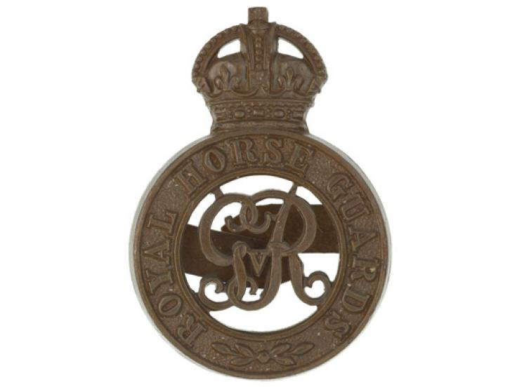 Cap badge of The Royal Horse Guards, c1914
