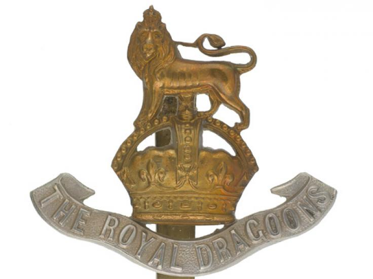 Other ranks' cap badge, 1st The Royal Dragoons, c1935