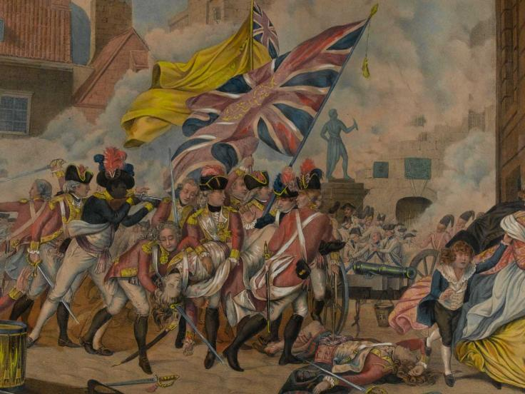 The death of Major Pierson and the defeat of the French attack on Jersey, 1781
