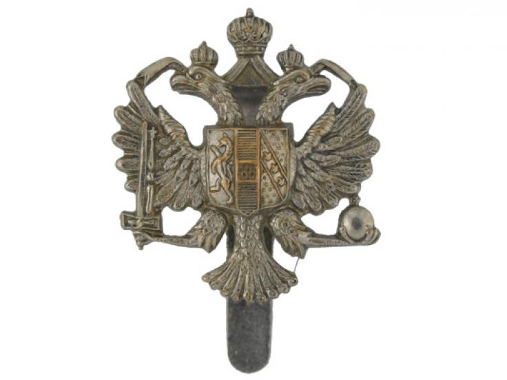 Other ranks' cap badge, 1st The Queen's Dragoon Guards, c1965