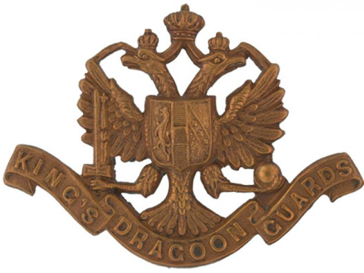 Other ranks' cap badge, 1st King's Dragoon Guards, c1904