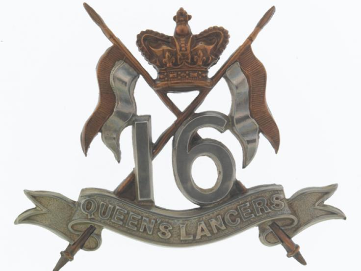 Cap badge, 16th (The Queen's) Lancers, c1900