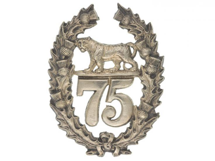 Glengarry badge, 75th (Stirlingshire) Regiment of Foot, c1874