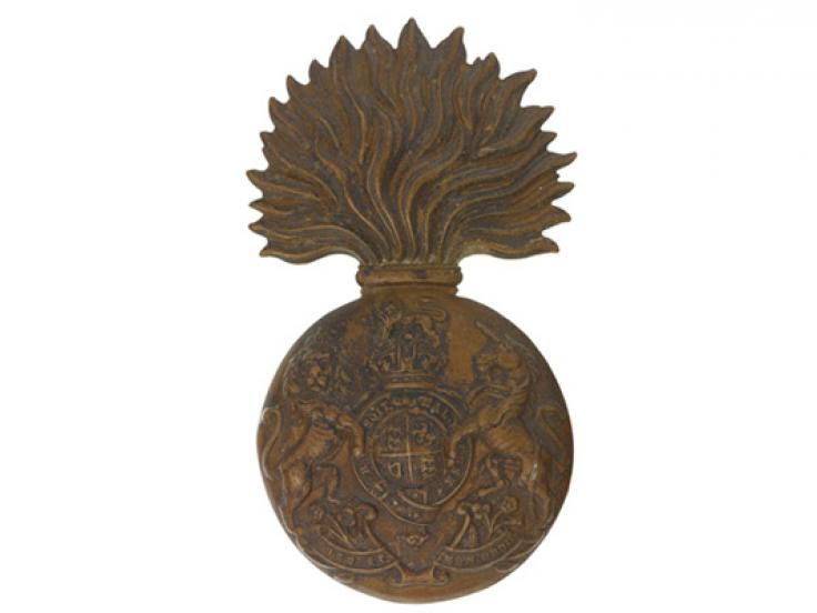 Other ranks' bearskin badge, The Royal Scots Fusiliers, c1902