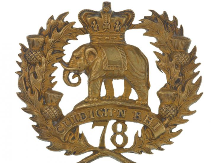 Glengarry badge, 78th (Highlanders) Regiment of Foot (Ross-shire Buffs), c1874