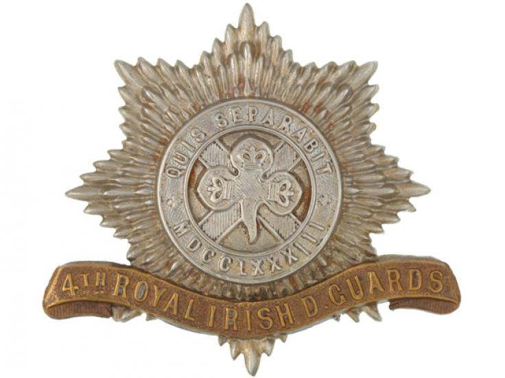 Other ranks' cap badge, 4th (Royal Irish) Dragoon Guards, c1900