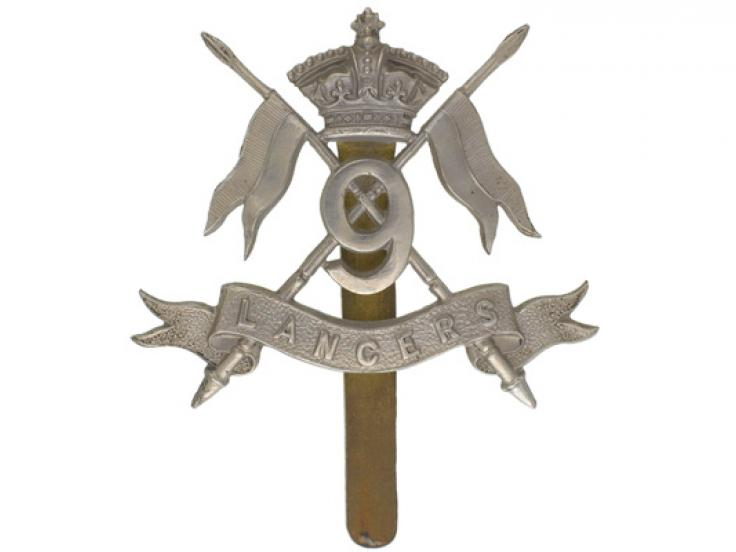 Other ranks' cap badge, 9th Queen's Royal Lancers, c1902