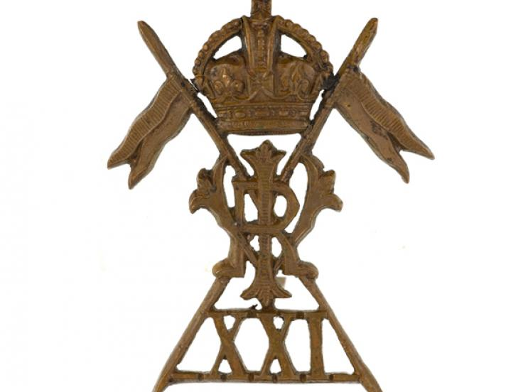 Cap badge, 21st (Empress of India's) Lancers, c1917