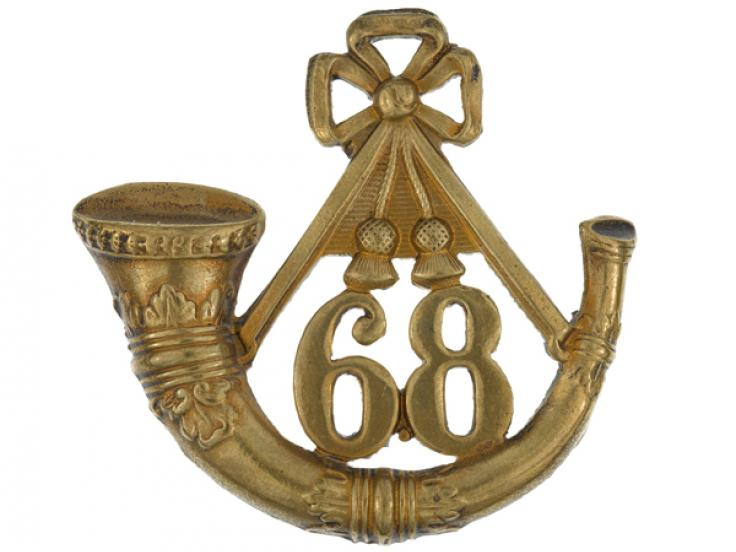 Glengarry badge, 68th (Durham) Regiment of Foot (Light Infantry), c1874