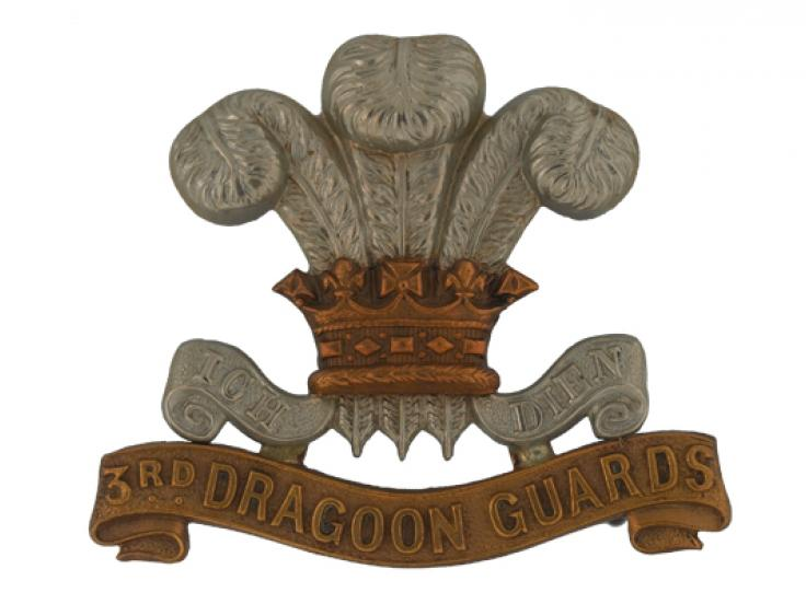 Other ranks' cap badge, 3rd (Prince of Wales's) Dragoon Guards, c1900