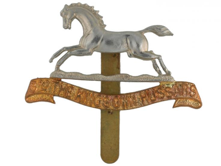 Cap badge, 3rd The King's Own Hussars, 1902
