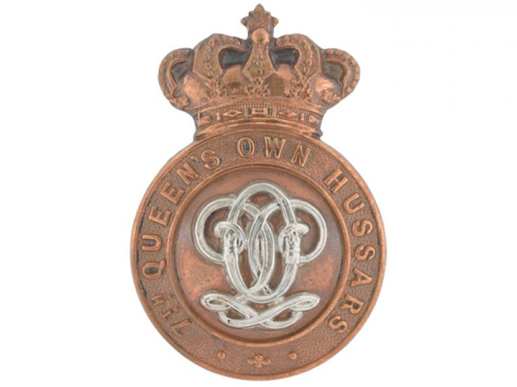 Cap badge, 7th (Queen's Own) Hussars, c1900