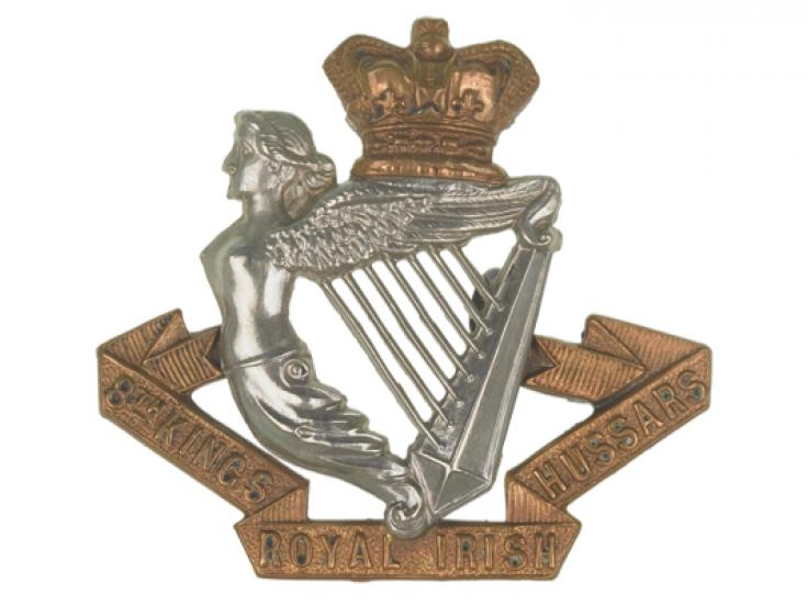 Cap badge, other ranks, 8th (King's Royal Irish) Hussars, c1900