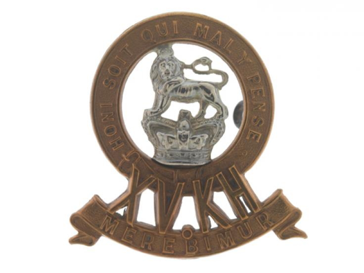 Cap badge, 15th (The King's) Hussars, c1900