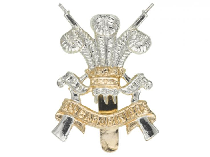 Cap badge, 3rd Carabiniers (Prince of Wales's Dragoon Guards), c1963