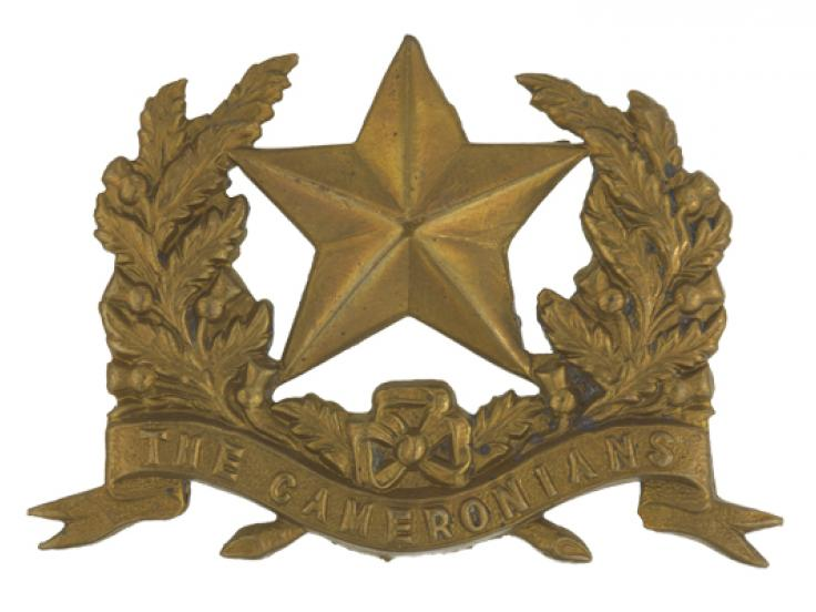 Glengarry badge, 26th (The Cameronians) Regiment of Foot, c1874
