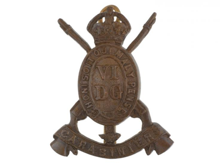 Cap badge, 6th Dragoon Guards (Carabiniers), c1902