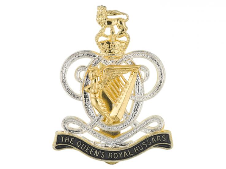 Cap badge, The Queen's Royal Hussars, c1993