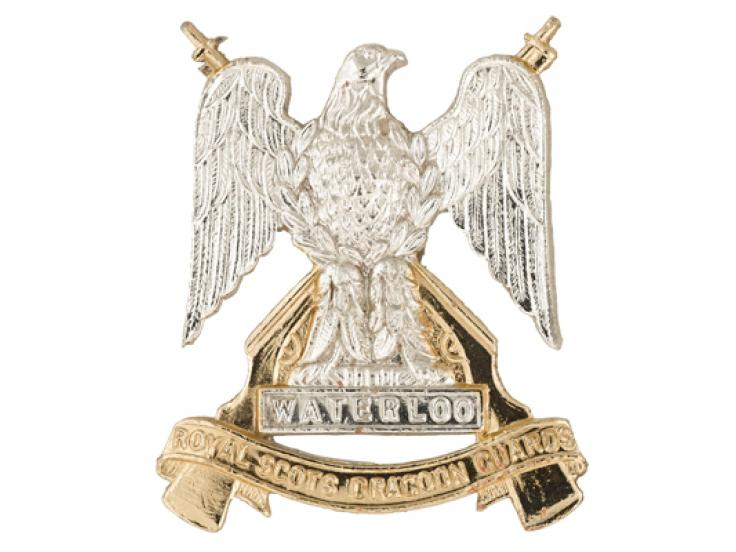 Collar badge, The Royal Scots Dragoon Guards, 1971