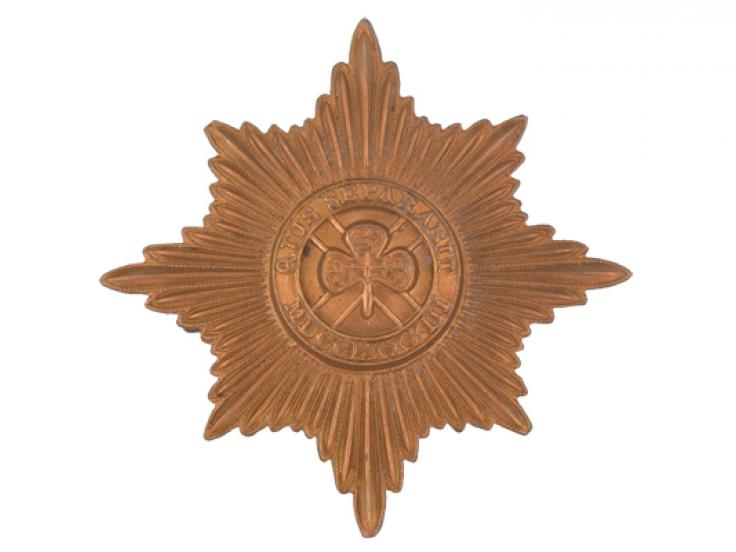 Other ranks' cap badge, The Irish Guards, c1900