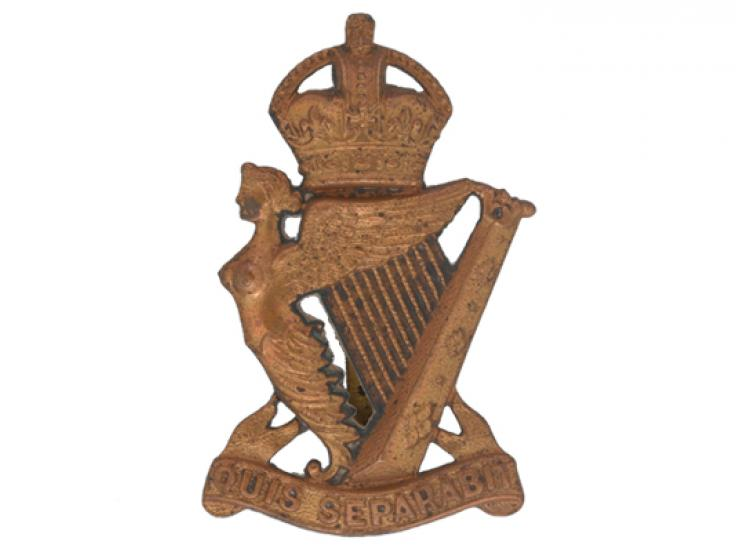 Officers' busby badge, The Royal Irish Rifles, c1902