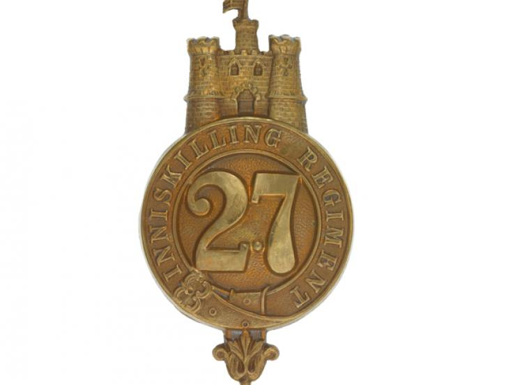 Other ranks' glengarry badge, 27th (Inniskilling) Regiment of Foot, c1874