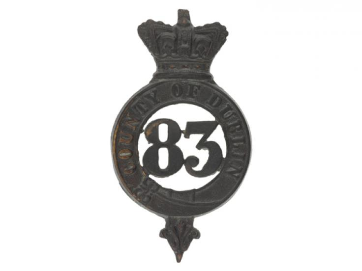 Glengarry badge, 83rd (County of Dublin) Regiment, c1874