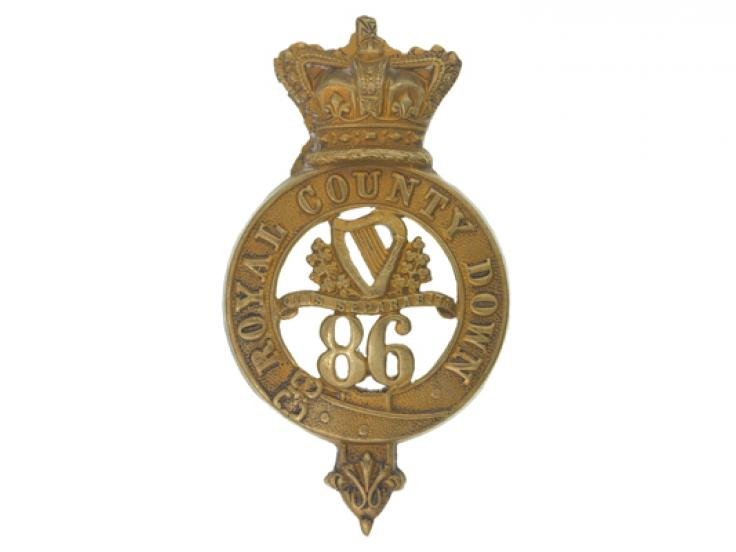 Glengarry badge, other ranks, 86th (Royal County Down) Regiment of Foot, c1874