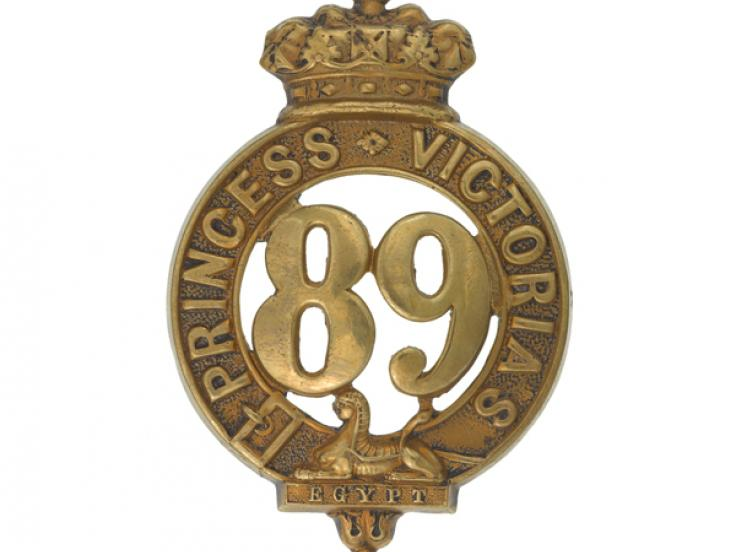 Glengarry badge, 89th (Princess Victoria's) Regiment of Foot, c1874