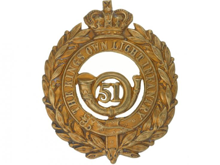 Glengarry badge, 51st (2nd Yorkshire West Riding) or The King's Own Light Infantry, c1874