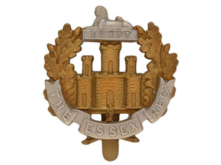 Other ranks' cap badge, The Essex Regiment, c1914
