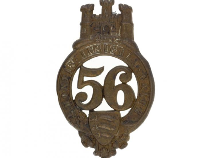Glengarry badge, other ranks, 56th (West Essex) Regiment, c1876